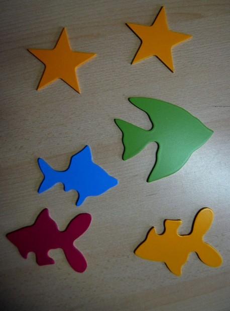 Rybki i gwiazdki do dekoracji