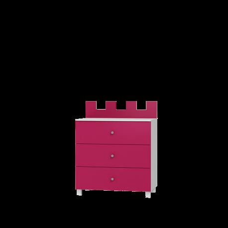 Komoda ZAMEK 3 szufladowa