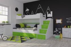 Łóżko piętrowe Trio