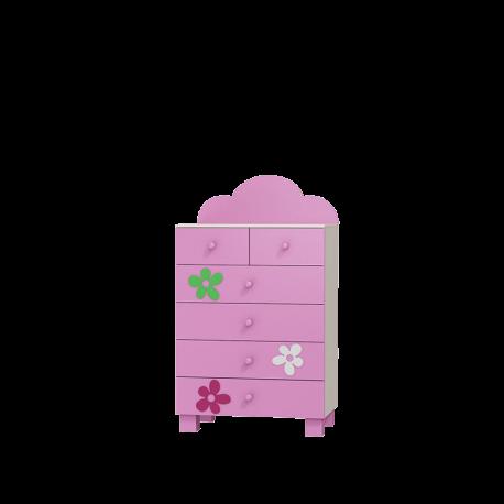 Komoda FLOWER 6 szuflad